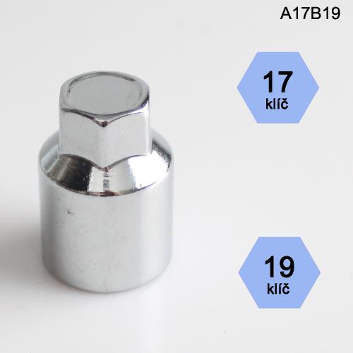Adapter na kolové šrouby, matice (A17B19); klíč 17, kolový šroub nebo matice klíč 19
