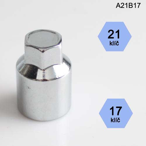 Adapter na kolové šrouby, matice (A21B17); klíč 21, kolový šroub nebo matice klíč 17