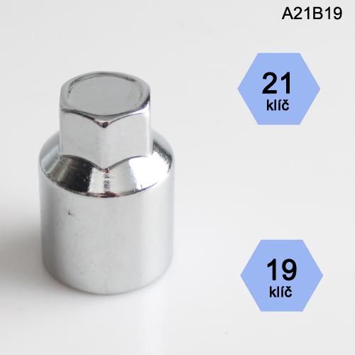 Adapter na kolové šrouby, matice (A21B19); klíč 21, kolový šroub nebo matice klíč 19