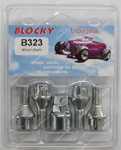 Blocky B323 pojistné šrouby M12x1,25x23mm kužel, klíč 17/19