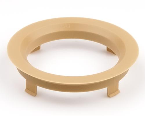 Kroužek vymezovací 70,1 / 57,1 (Z1411), plast, světle hnědá, přesah kužele 5mm