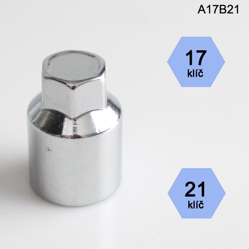 Adapter na kolové šrouby, matice (A17B21); klíč 17, kolový šroub nebo matice klíč 21