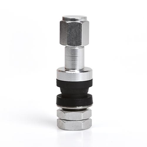 Kovový ventil průměr 11,5mm (JRAV2-S) stříbrný, hliníkový, délka 42mm, sada 4ks