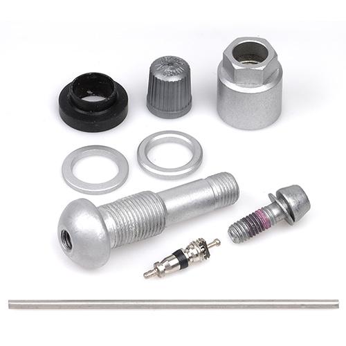 TPMS ventil pro senzor tlaku HUF (Alligator 59.0337) hliníkový elox šedý, celk. délka 43mm