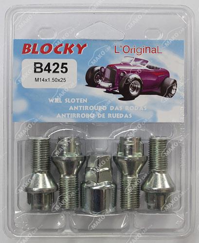 Blocky B425 pojistné šrouby M14x1,5x25mm kužel, klíč 17/19