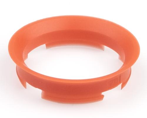 Kroužek vymezovací 63,4 / 57,1 (Z03D), plast, červenooranžový, přesah kužele 7mm