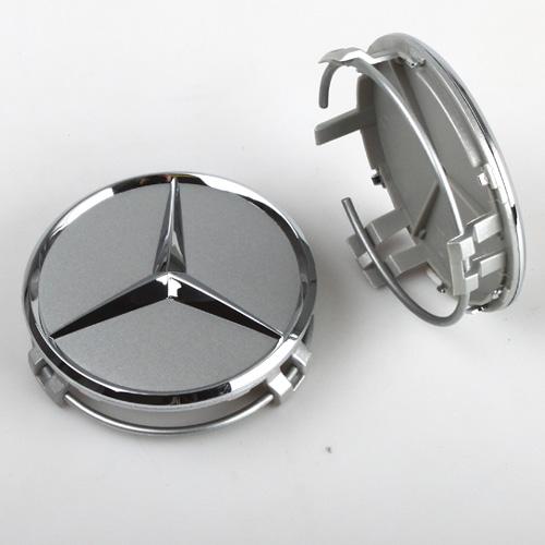 Krytka průměr 69/75mm(vnitřní,vnější) Mercedes original (B66470202) stříbrná, chrom hvězda