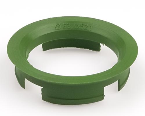 Kroužek vymezovací 63,4 / 52,1 (Z07D), plast, zelený, přesah kužele 7mm