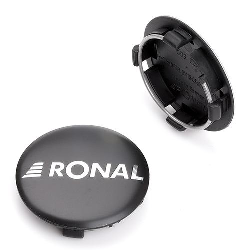 Krytka průměr 58/64mm(vnitřní,vnější) Ronal, černá matná, plast, úchyt 4mm