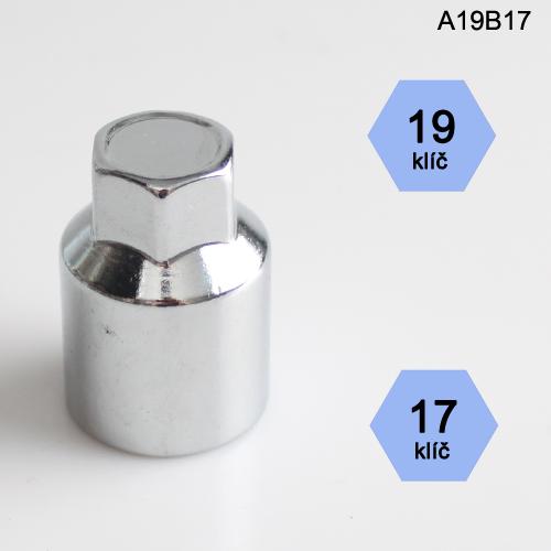 Adapter na kolové šrouby, matice (A19B17); klíč 19, kolový šroub nebo matice klíč 17
