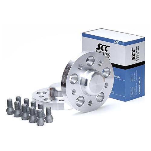 Rozšiřovací podložky 25mm 5/112-66,6 (šrouby M14x1,5)(SCC 13327) s krytkou, 2ks