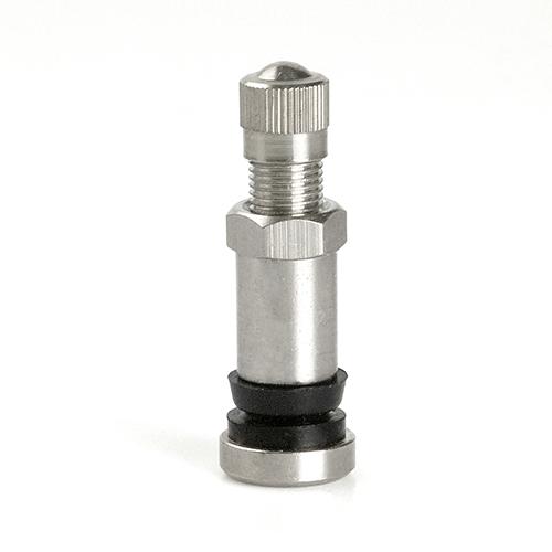 Ventil bezdušový moto průměr 8,3mm (518MS) kovový poniklovaný, výška 35mm
